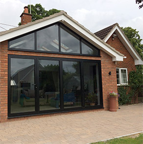 House with glass frontage
