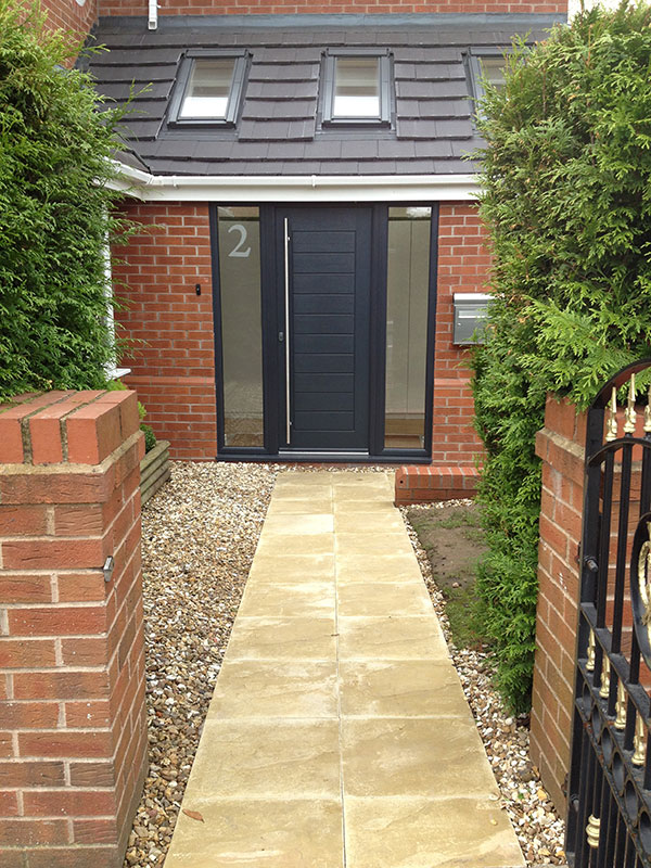 Garage extension and drive