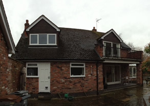 Before work was completed - Astbury Congleton